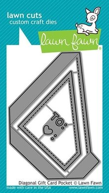 Lawn Fawn Diagonal Gift Card Pocket Dies (LF2045)
