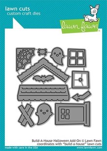 Lawn Fawn Build-a-House Halloween Add-on Dies (LF2047)