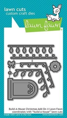 Lawn Fawn Build-a-House Christmas Add-on Dies (LF2048)