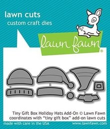 Lawn Fawn Tiny Gift Box Holiday Hats Add-on Dies (LF2052)