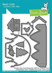 Lawn Fawn Shadow Box Card Mountain Add-on Dies (LF2055)