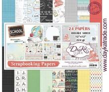 Dayka School 12x12 Inch Paper Pack (SCP-3025)