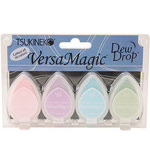 Tsukineko VersaMagic Pretty Pastel Chalk Pigment Ink Set (GD-100-001)