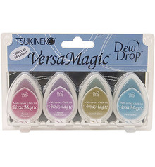 Tsukineko VersaMagic Jewel Box Chalk Pigment Ink Set (GD-100-002)