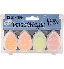 Tsukineko VersaMagic Fruit Cocktail Chalk Pigment Ink Set (GD-100-003)