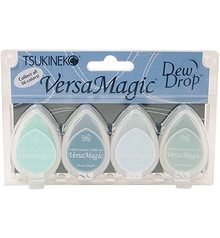 Tsukineko VersaMagic Seashore Chalk Pigment Ink Set (GD-100-005)
