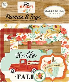Carta Bella Fall Market Ephemera Frames & Tags (CBFAM105025)