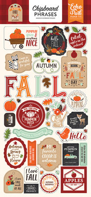 Echo Park My Favorite Fall 6x13 Inch Chipboard Phrases (MFF178022)