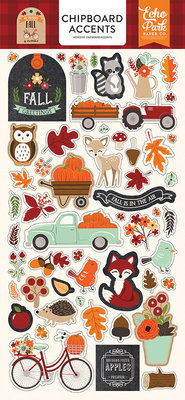 Echo Park My Favorite Fall 6x13 Inch Chipboard Accents (MFF187021)