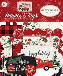 Carta Bella Christmas Market Ephemera Frames & Tags (CBCM106025)
