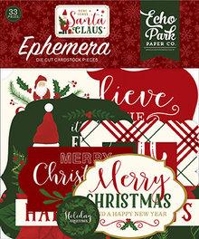 Echo Park Here Comes Santa Claus Ephemera (HCSC188024)