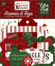 Echo Park Here Comes Santa Claus Ephemera Frames & Tags (HCS188025)