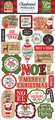 Echo Park My Favorite Christmas 6x13 Inch Chipboard Phrases (MFC190022)
