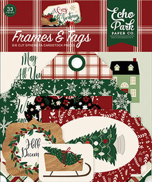 Echo Park A Cozy Christmas Ephemera Frames & Tags (ACC189025)