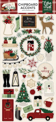 Echo Park A Cozy Christmas 6x13 Inch Chipboard Accents (ACC189021)