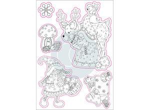 Craft Consortium Mr & Mrs Snome Clear Stamps (CCSTMP015)