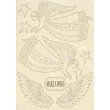 Stamperia Wooden Shapes A5 Make a Wish Angel & Wings (KLSP061)
