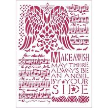 Stamperia Masking Stencil A4 Music & Wings (KSG435)