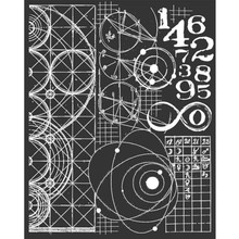 Stamperia Media Stencil Cosmos Astronomy & Numbers (KSTD042)