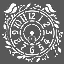 Stamperia Media Stencil Clock (KSTDQ227)