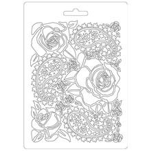Stamperia Texture Impression Soft Mould A5 Roses (K3PTA520)