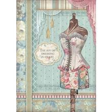 Stamperia Rice Paper A4 Grand Hotel Mannequin (DFSA4398)