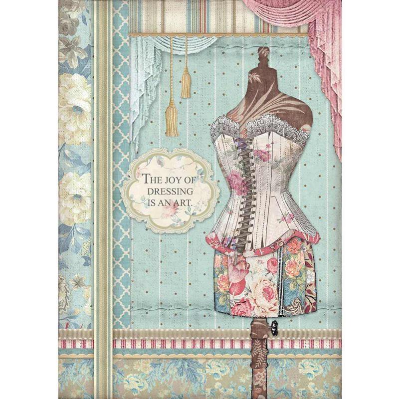 Stamperia Rice Paper A4 Grand Hotel Mannequin (DFSA4398