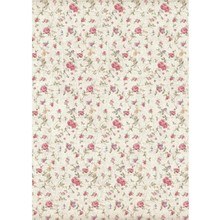 Stamperia Rice Paper A4 Grand Hotel Texture Small Roses (DFSA4401)