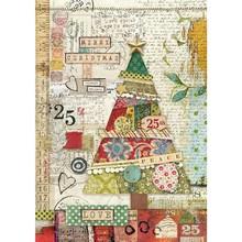 Stamperia Rice Paper A4 Make a Wish Patchwork Tree (DFSA4406)