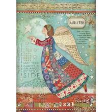 Stamperia Rice Paper A4 Make a Wish Angel (DFSA4407)