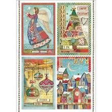 Stamperia Rice Paper A4 Make a Wish Postcards (DFSA4408)