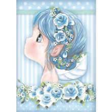 Stamperia Rice Paper A4 Light Blue Fairy (DFSA4409)