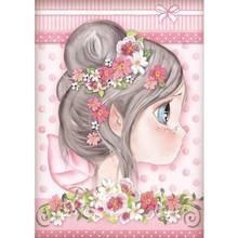 Stamperia Rice Paper A4 Pink Fairy (DFSA4412)
