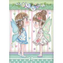 Stamperia Rice Paper A4 Fairies with Butterflies (DFSA4413)