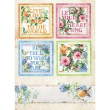 Stamperia Rice Paper A4 Flowers For You Cards (DFSA4418)