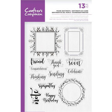 Crafter's Companion Frame Sentiments Clear Stamps (CC-ST-CA-FRS)