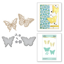 Spellbinders Glimmering Butterflies Hot Foil Plate (GLP-141)