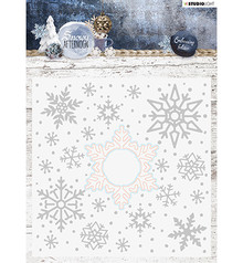 Studio Light Cut & Embossing Folder Snowy Afternoon (EMBSA02)