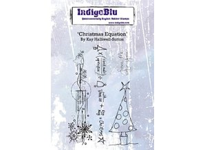 IndigoBlu Christmas Equation A6 Rubber Stamp (IND0550)