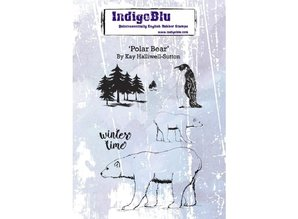 IndigoBlu Polar Bear A6 Rubber Stamp (IND0551)