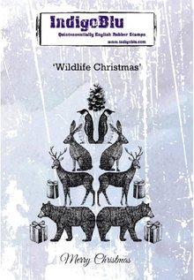IndigoBlu Wildlife Christmas A6 Rubber Stamp (IND0552)