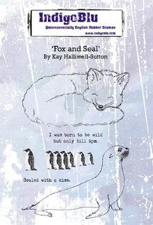 IndigoBlu Fox and Seal A6 Rubber Stamp (IND0553)