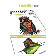 Carabelle Studio Chouette et Escargot Cling Stamp (SA60467)