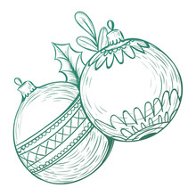 Couture Creations Christmas Baubles Mini Clear Stamp (CO726912)
