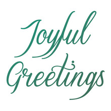 Couture Creations Joyful Greetings Sentiment Mini Clear Stamp (CO726916)