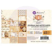 Prima Marketing Inc Autumn Sunset 4x6 Inch Journaling Cards (995522)