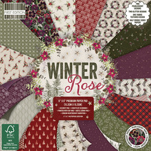 First Edition Winter Rose 6x6 Inch Paper Pad (FEPAD220X19)