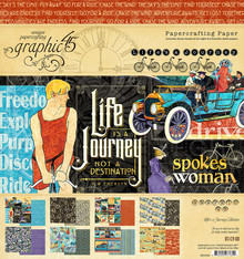 Graphic 45 Life's a Journey 8x8 Inch Paper Pad (4501945)