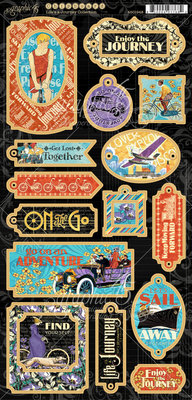 Graphic 45 Life's a Journey Chipboard (4501948)