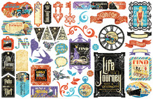 Graphic 45 Life's a Journey Die Cut Assortment (4501951)